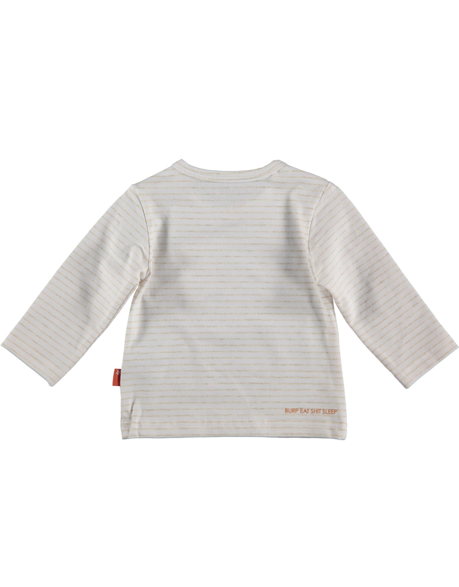 B.E.S.S. Shirt l. sl. Lines, White