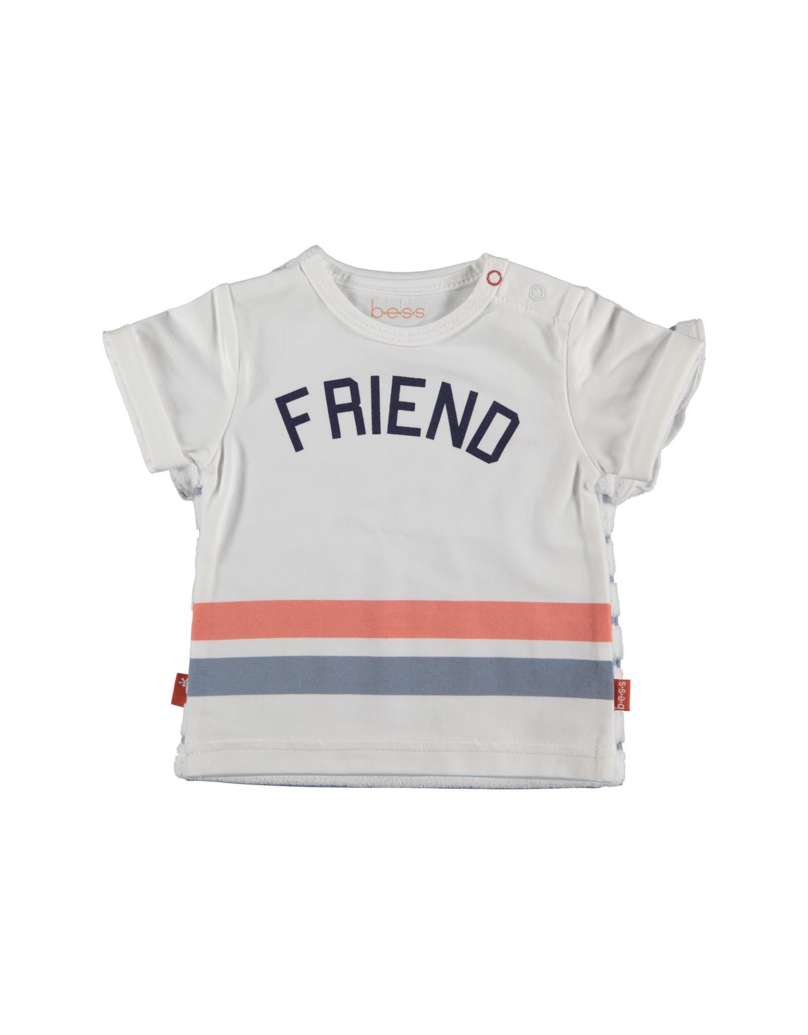 B.E.S.S. Shirt sh.sl. FRIEND, White