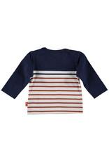 B.E.S.S. Shirt l. sl. Striped with Pocket, Blue