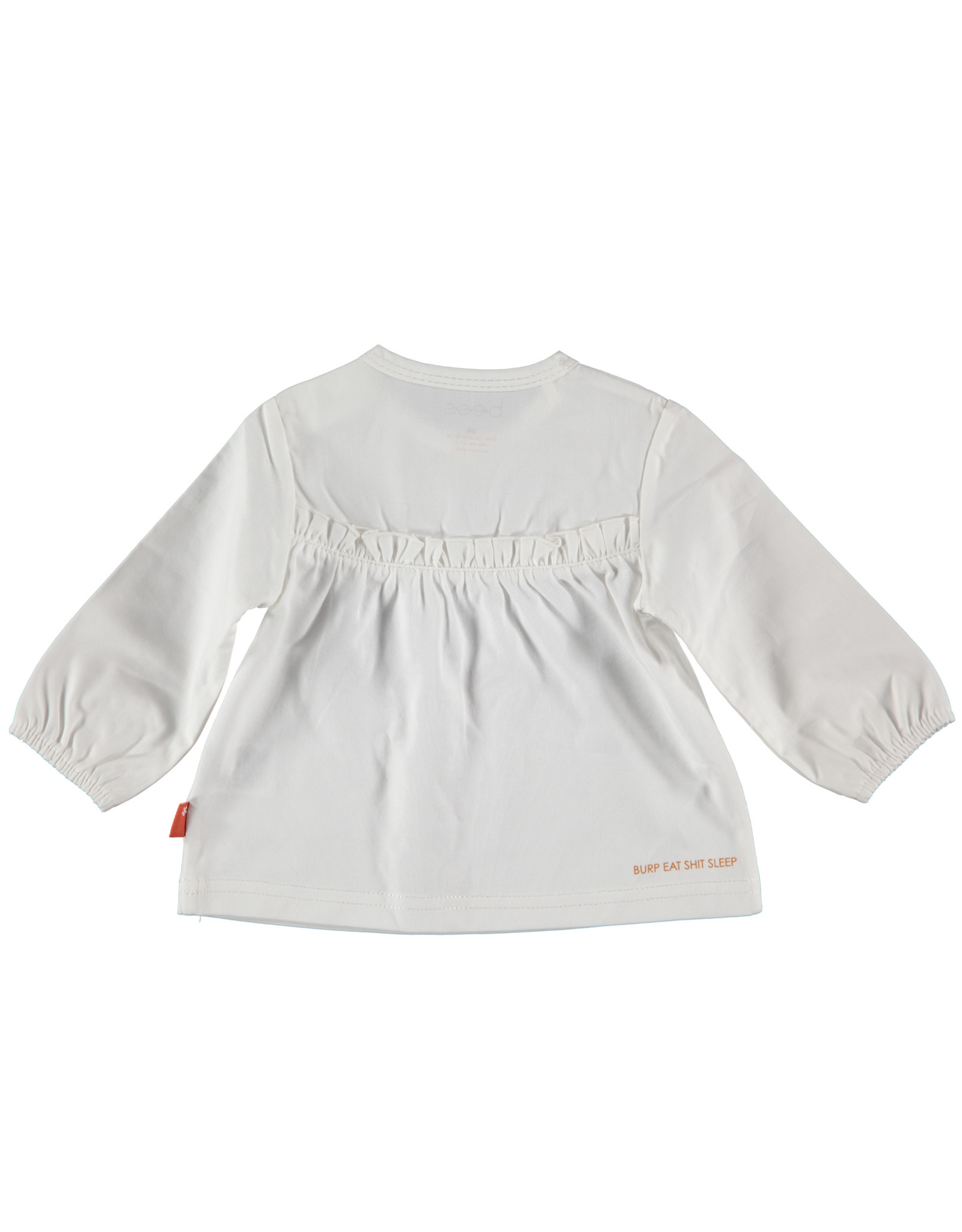 B.E.S.S. Shirt Blouse Ruffles, White