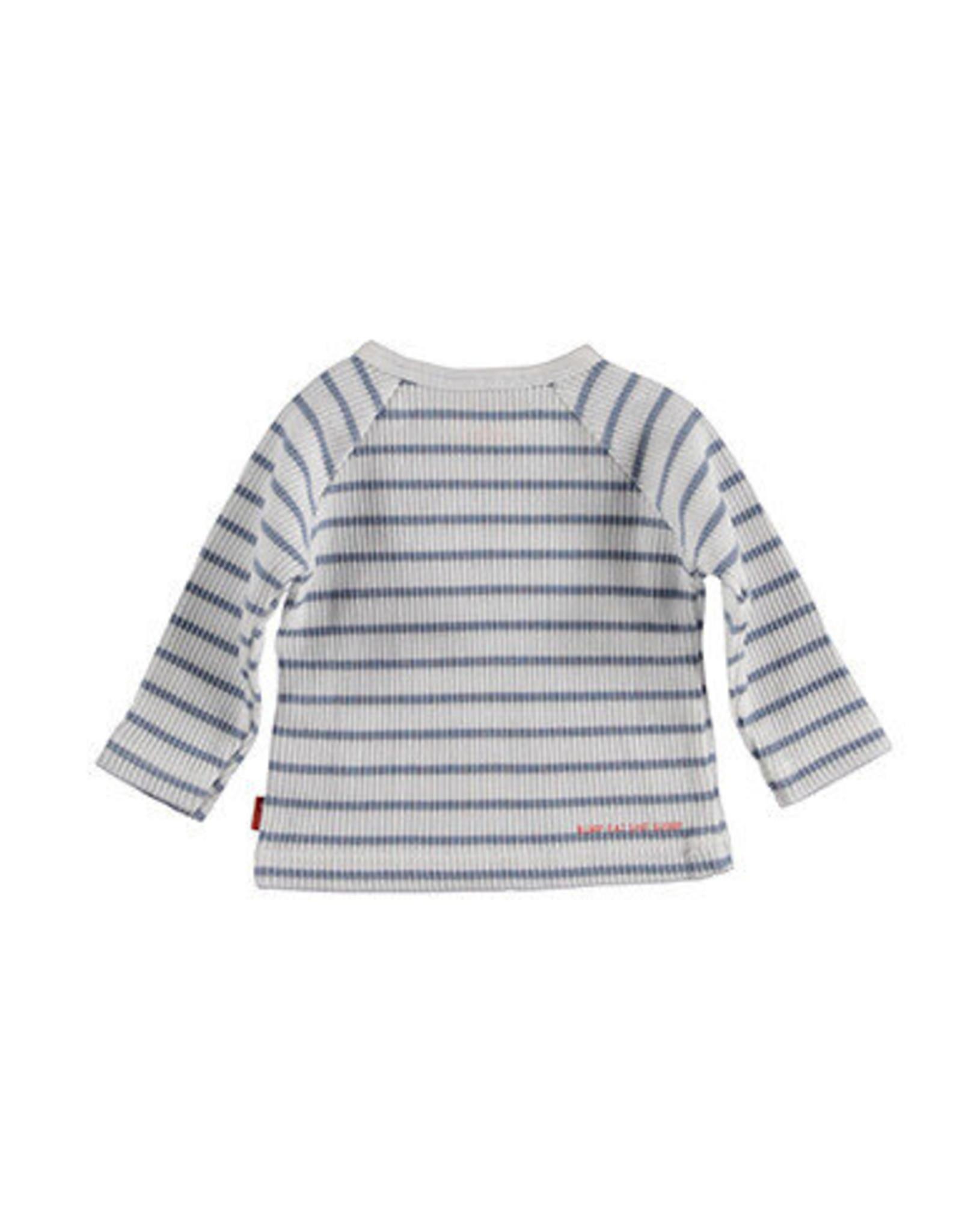 B.E.S.S. Sweater l. sl. Striped, White