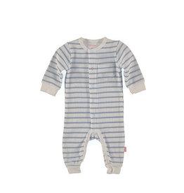 B.E.S.S. Suit Striped, White 1