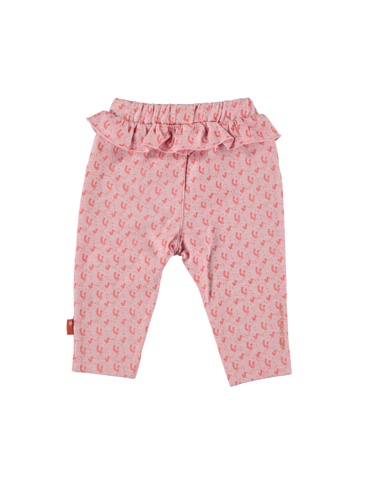B.E.S.S. Pants AOP Flower Ruffles, Pink