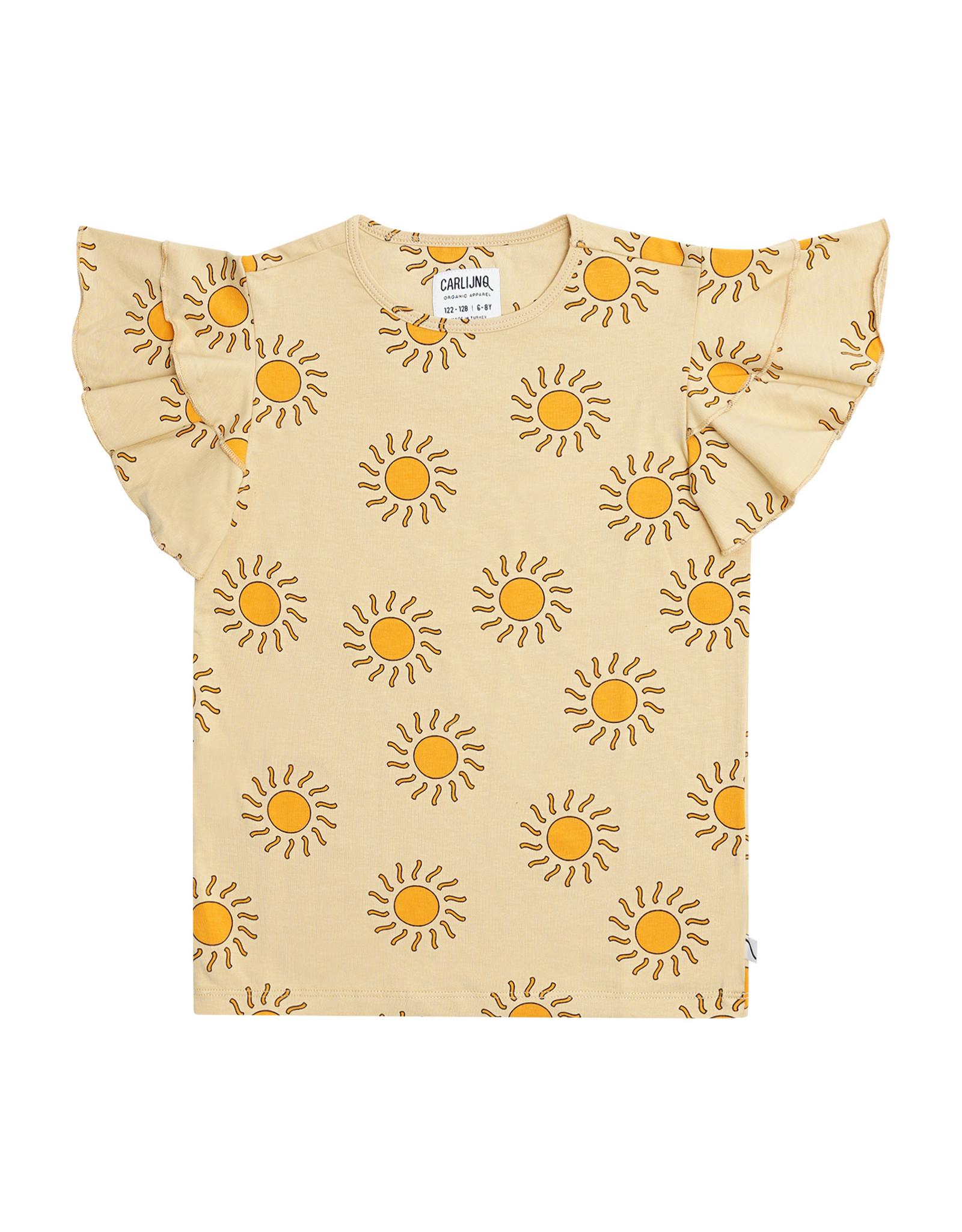 CarlijnQ Sunshine - ruffled t-shirt