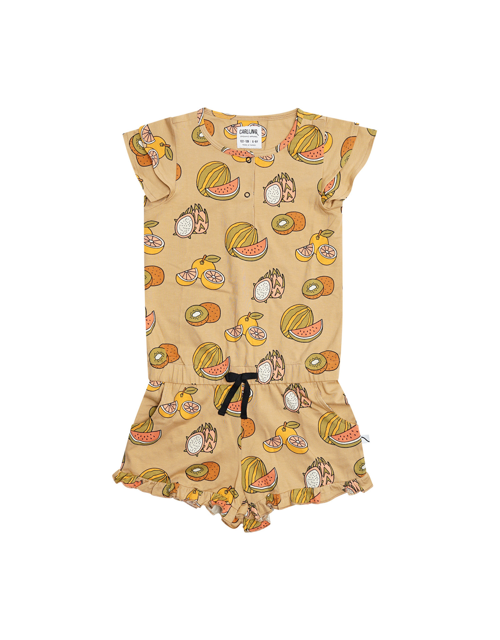 CarlijnQ Summer Fruit - ruffled jumpsuit