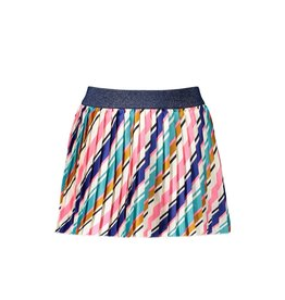 B-Nosy Girls satin skirt with slanted stripe
