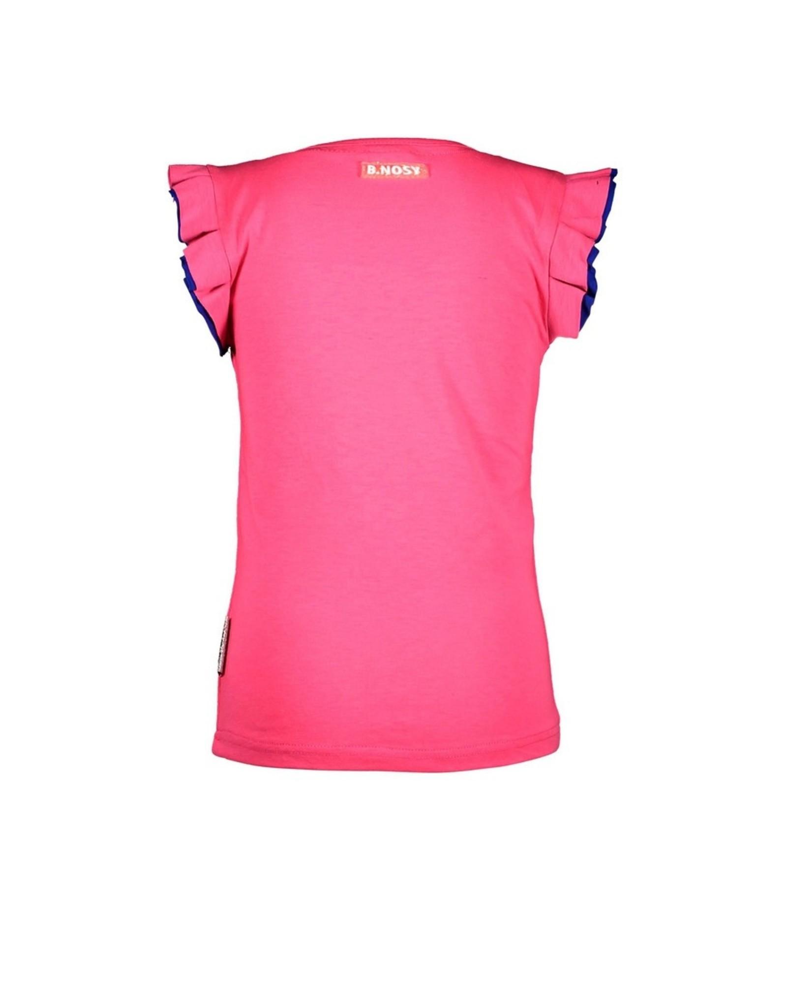 B-Nosy Girls t-shirt with v-shaped embro