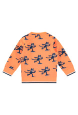 Babyface boys sweatshirt, neon orange, BBE21107423