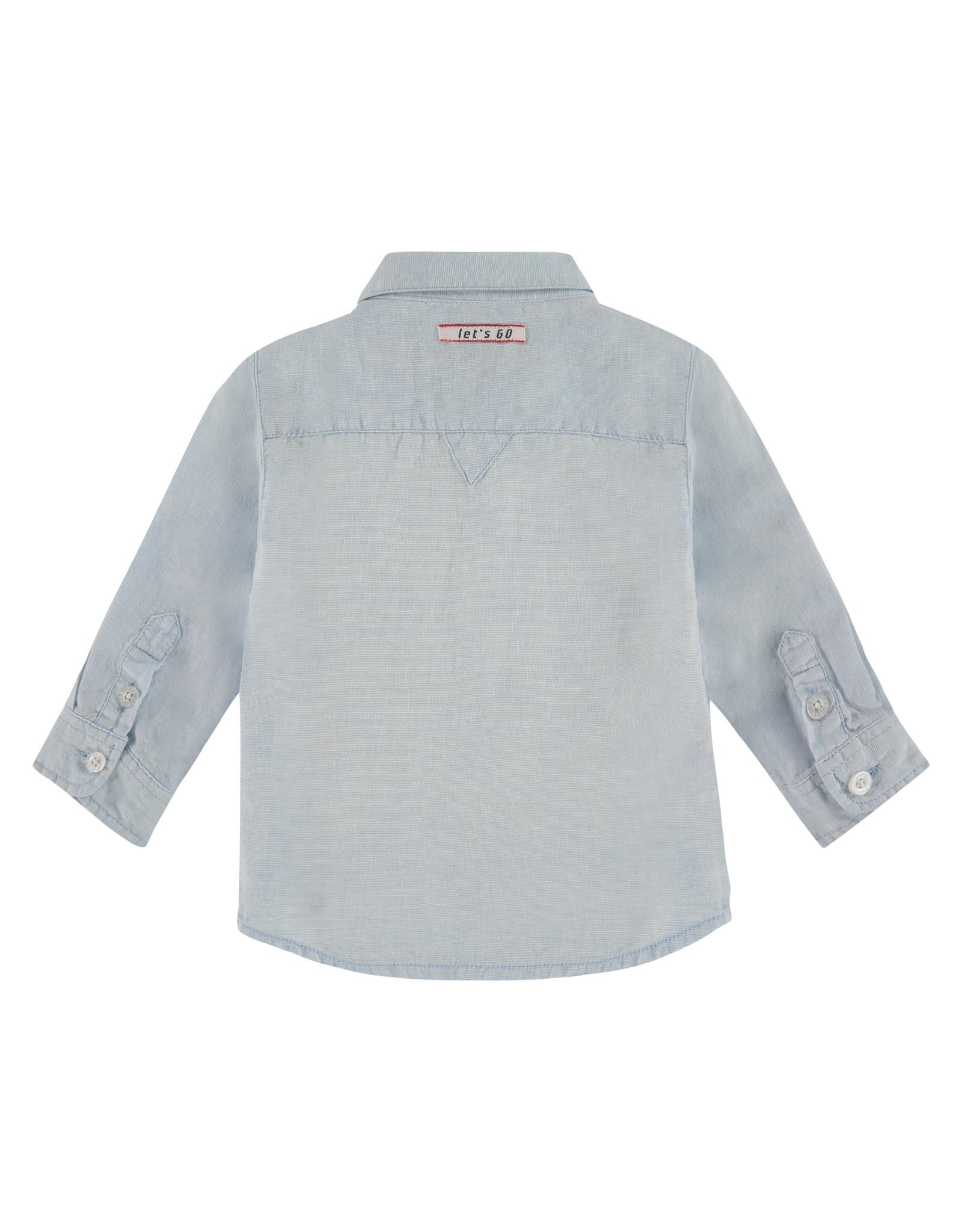 Babyface boys shirt, light blue, BBE21107521
