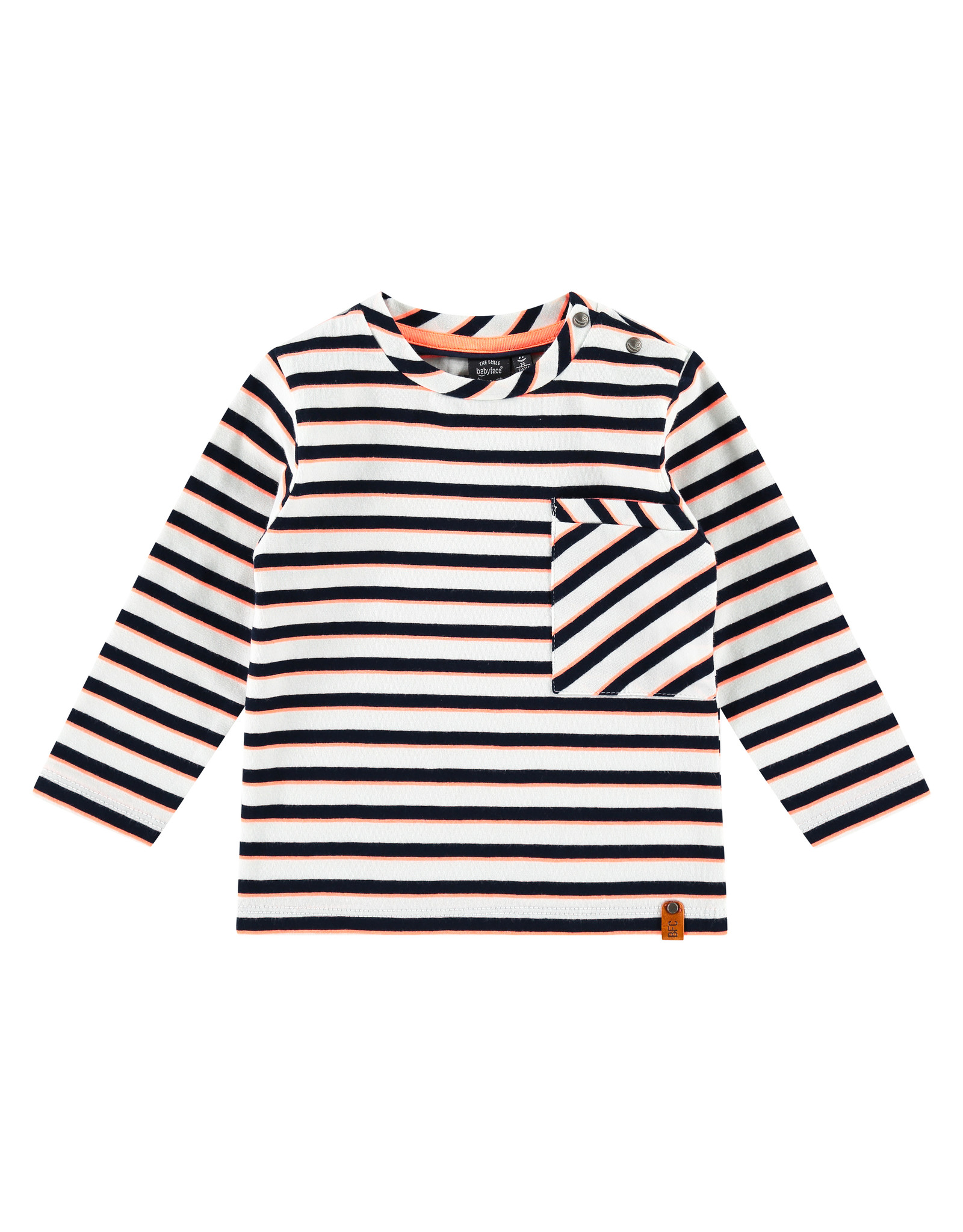 Babyface boys t-shirt long sleeve, white, BBE21107627