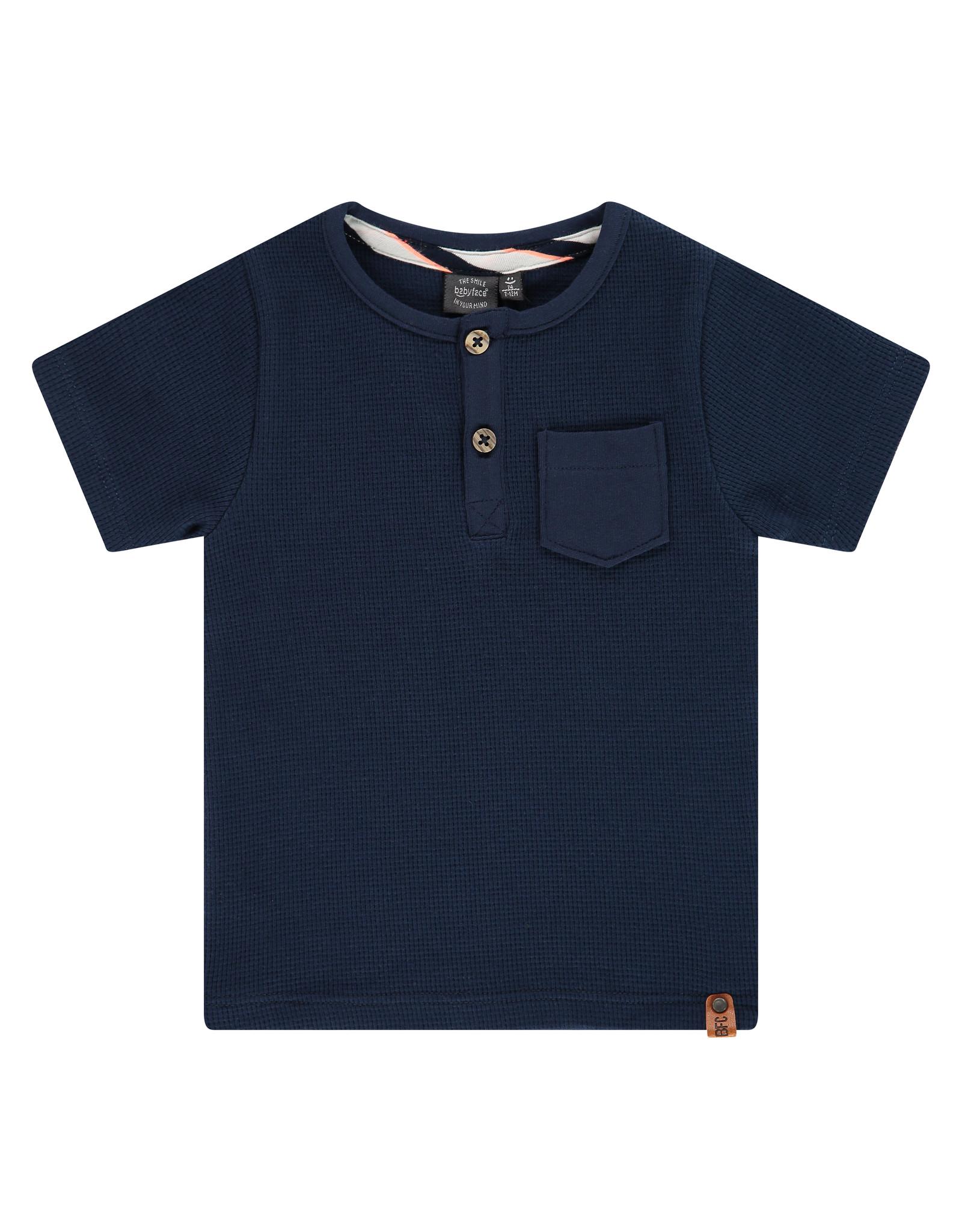 Babyface boys t-shirt short sleeve, navy, BBE21107637