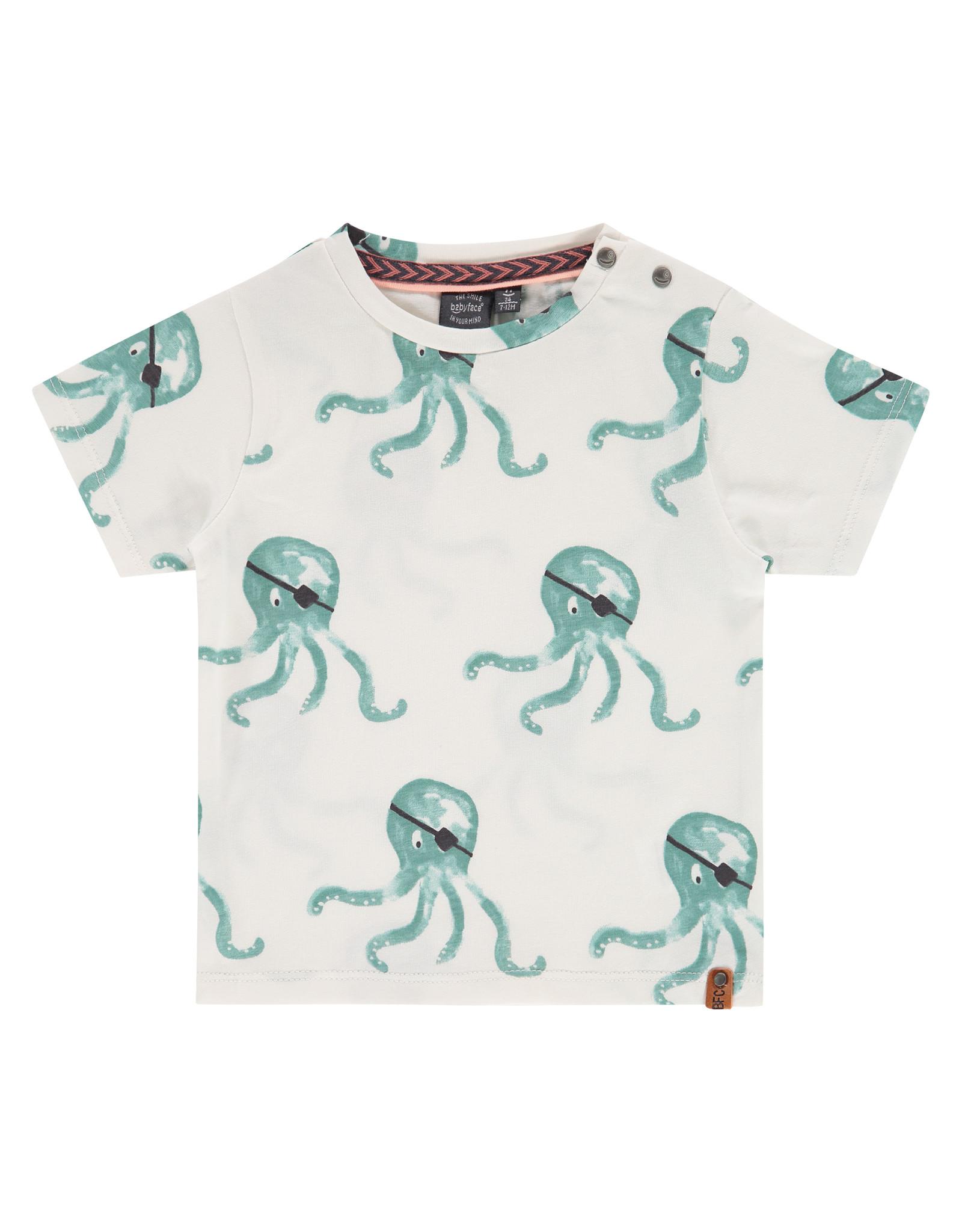 Babyface boys t-shirt short sleeve, grey mint, BBE21207643