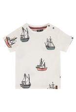 Babyface boys t-shirt short sleeve, off white, BBE21207655