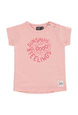 Babyface girls t-shirt short sleeve, blush pink, BBE21208640