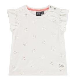 Babyface girls t-shirt short sleeve, creme, BBE21208646
