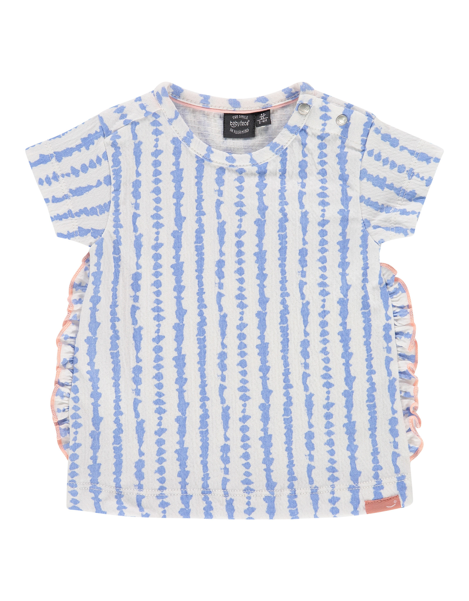 Babyface baby girls t-shirt short sleeve, lavender blue, NWB21228648