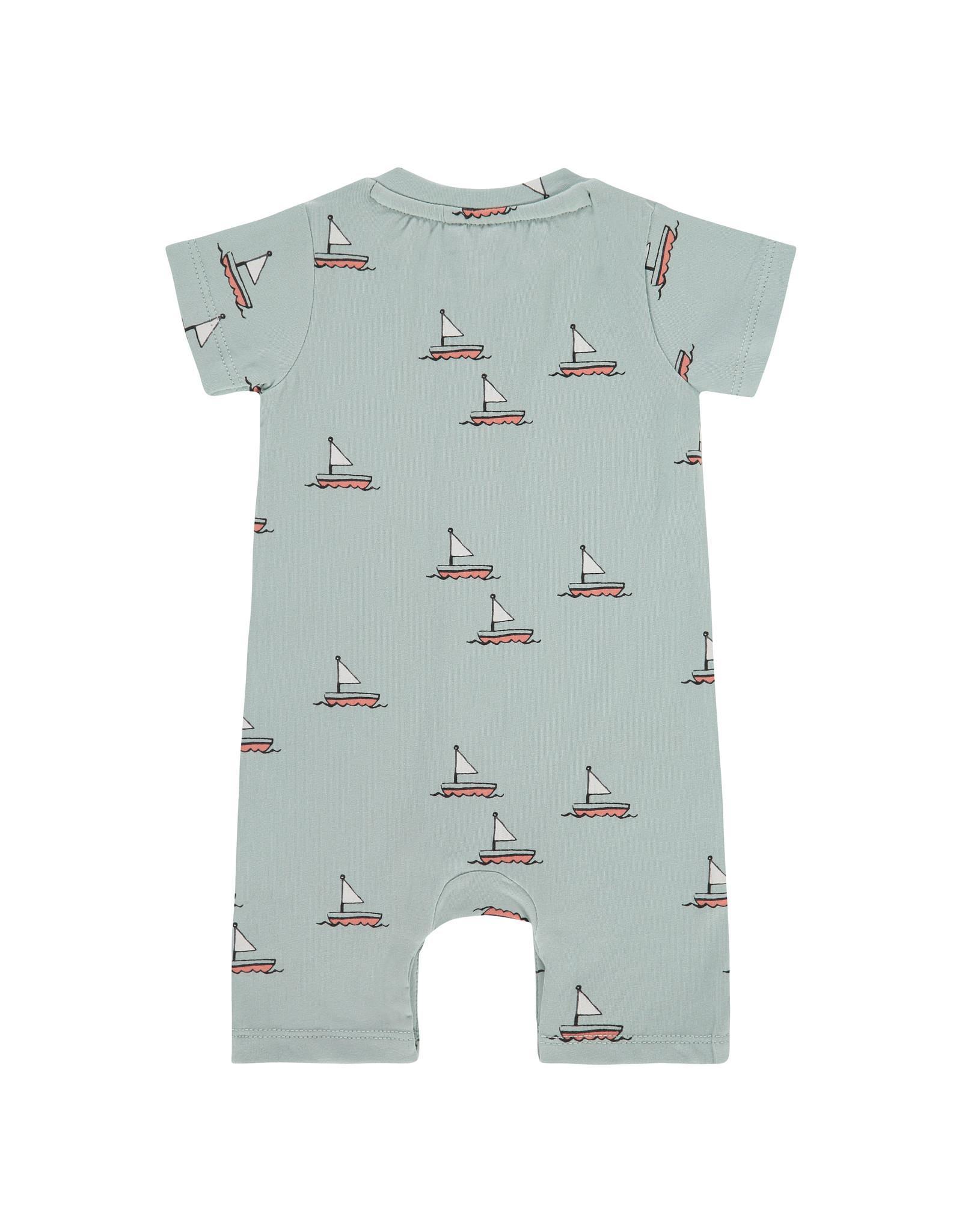 Babyface baby boys suit short sleeve, grey mint, NWB21227741