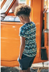B-Nosy Boys t-shirt with palm ao and chest artwork, On the beach ao