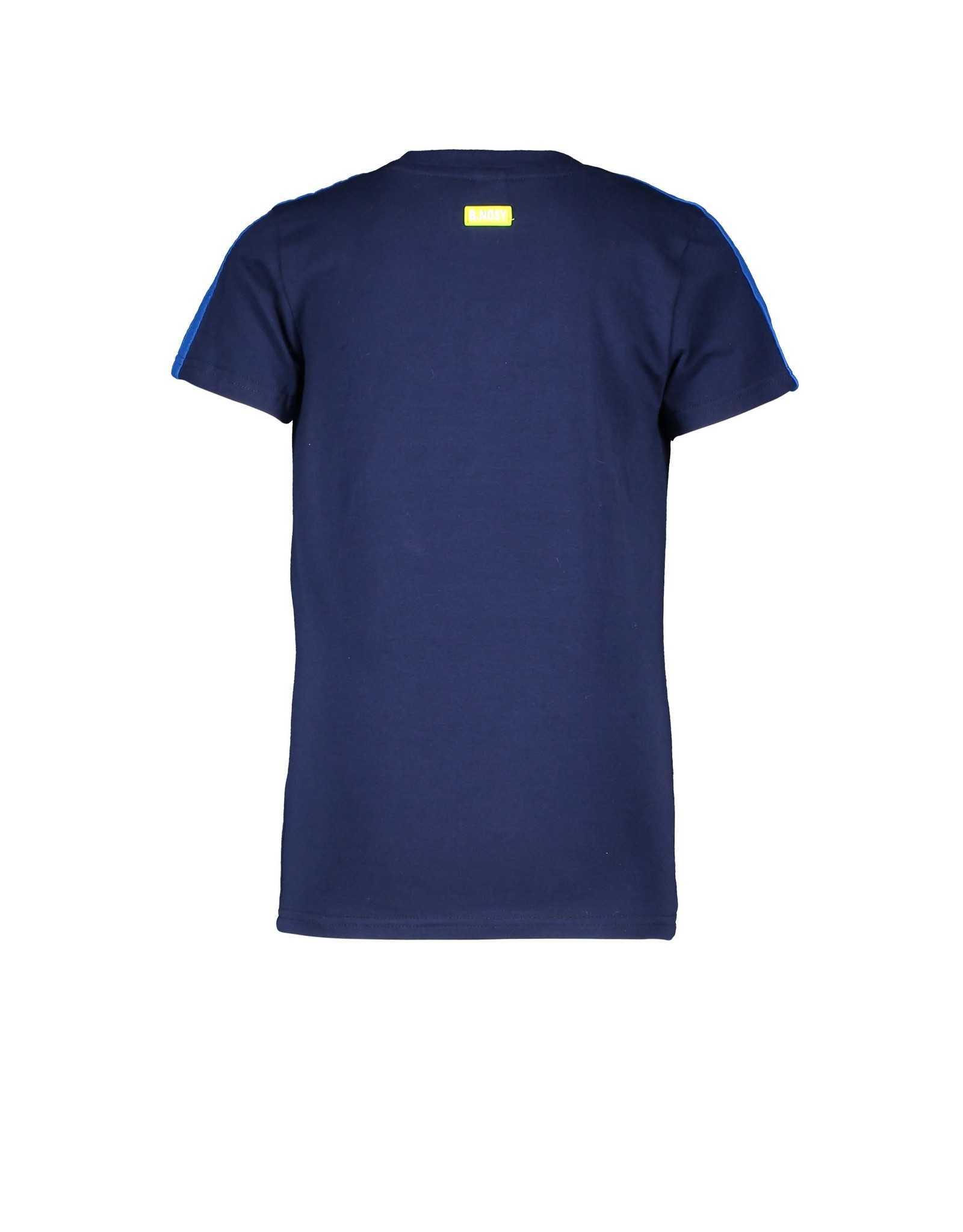 B-Nosy Boys ss shirt with slanted top part and sunglass embro, space blue