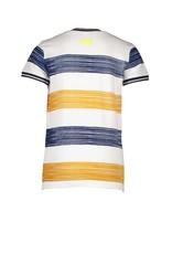 B-Nosy Boys ss shirt with printed panel stripe, Mustard