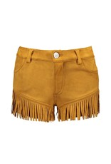 B-Nosy Girls fake suede shorts with special pleat effect, Mustard