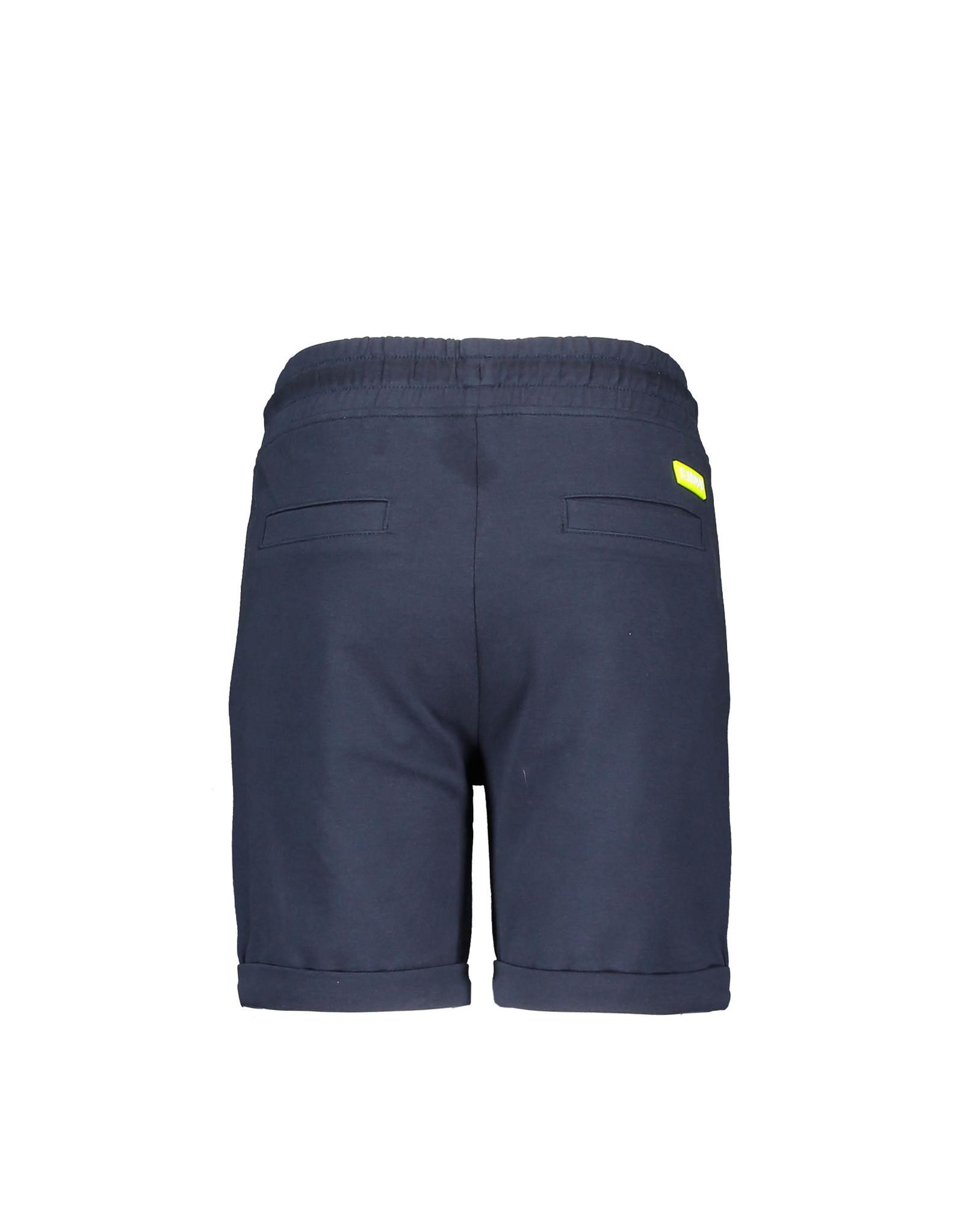 B-Nosy Boys uni shorts with smocked wb, Oxford blue
