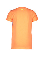B-Nosy Boys v-neck t-shirt with chest artwork, Neon orange