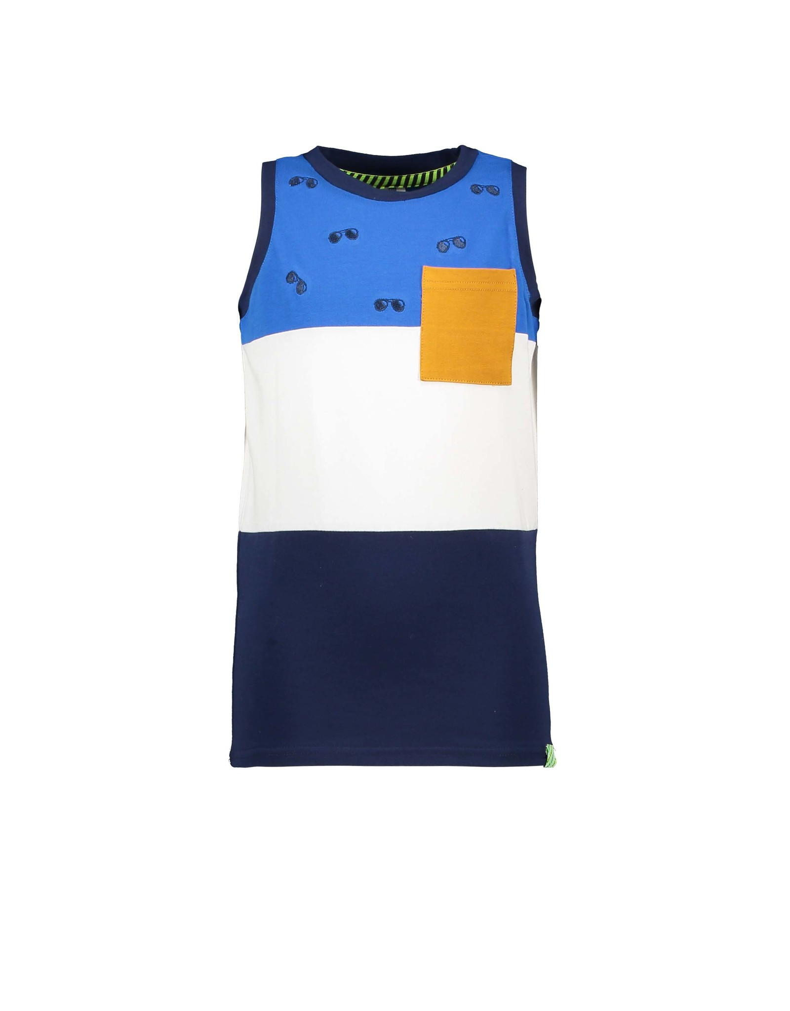B-Nosy Boys tanktop with 3 parts, space blue
