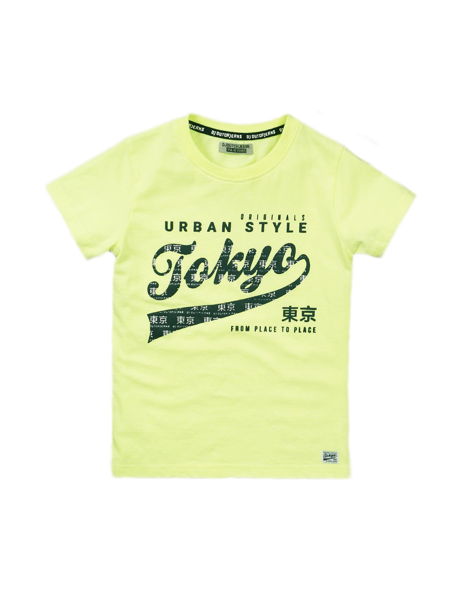 Dutch Jeans T-shirt ss, Neon yellow