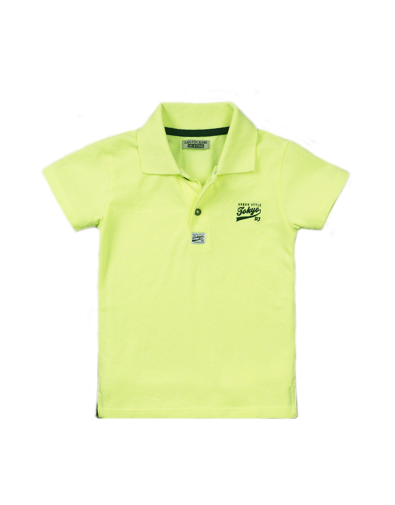 Dutch Jeans Polo ss, Neon yellow