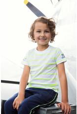 Dutch Jeans T-shirt ss, White + neon yellow