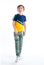 B-Nosy Boys short sleeve with slanted cut and sew partk, space blue