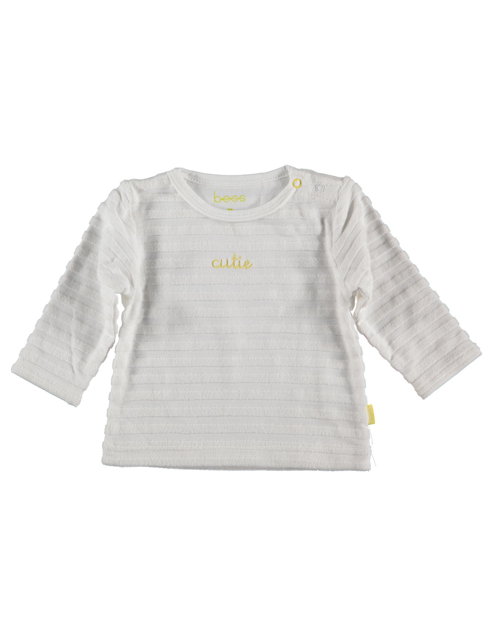 B.E.S.S. Shirt l.sl.Waffle, White