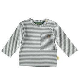B.E.S.S. Shirt l.sl.Striped pocket, White