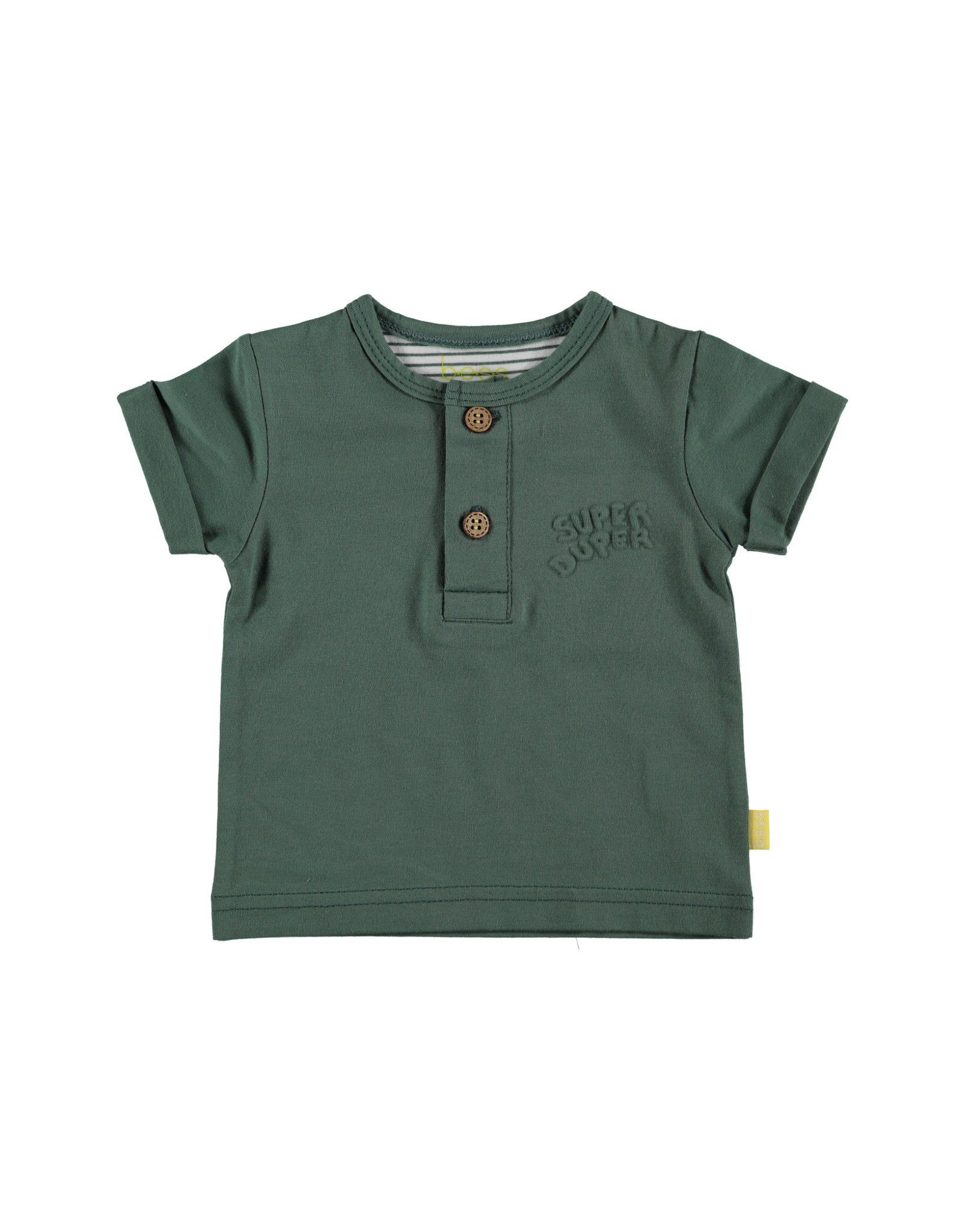 B.E.S.S. Shirt sh.sl. Henley, Green