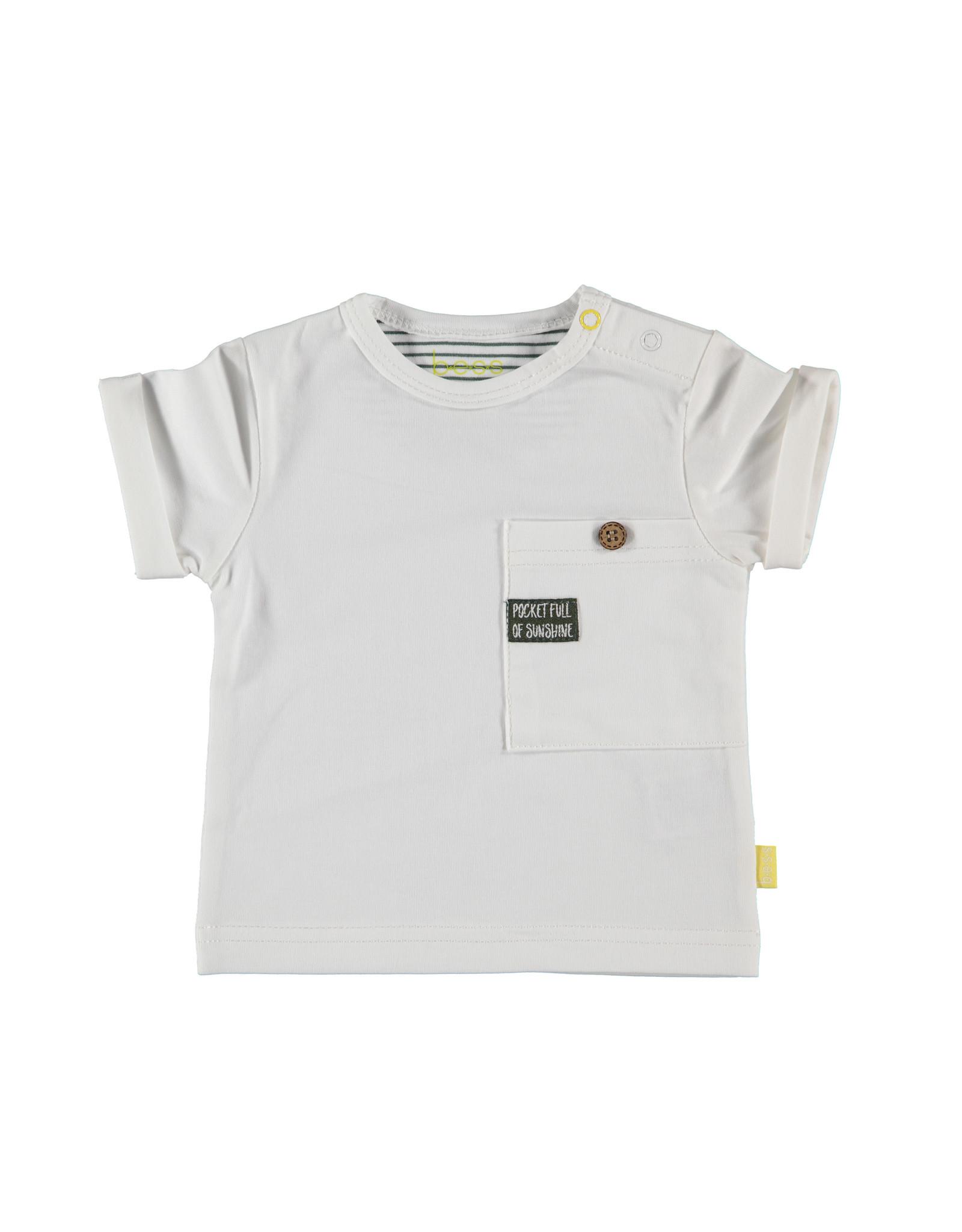 B.E.S.S. Shirt sh.sl. Pocket, White