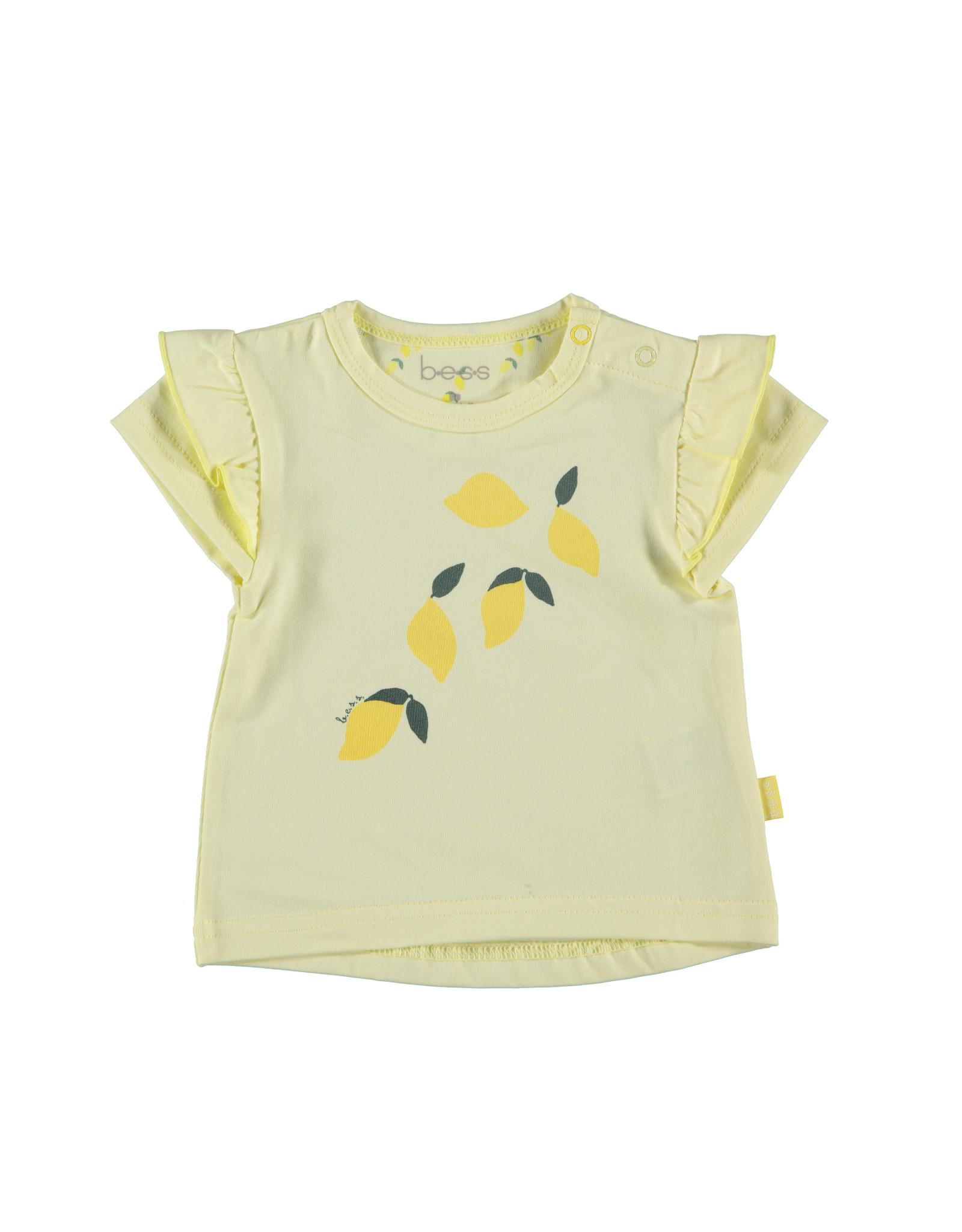 B.E.S.S. Shirt sh.sl. Lemons, Yellow