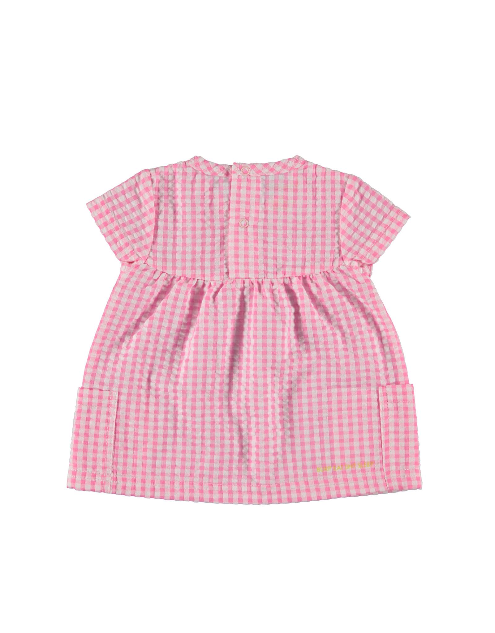 B.E.S.S. Blouse sh.sl. Vichy, Pink