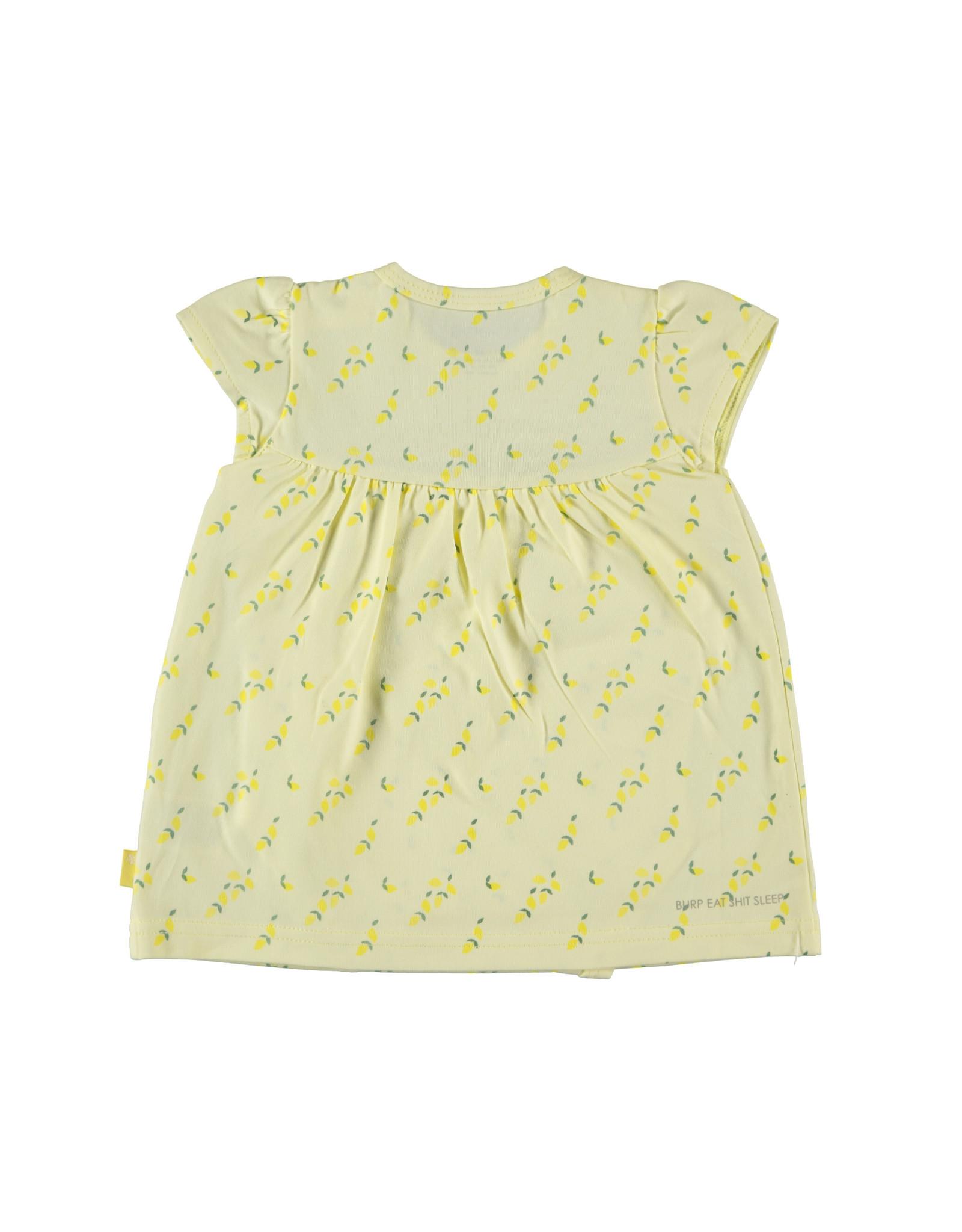B.E.S.S. Dress romper AOP Lemons, Yellow