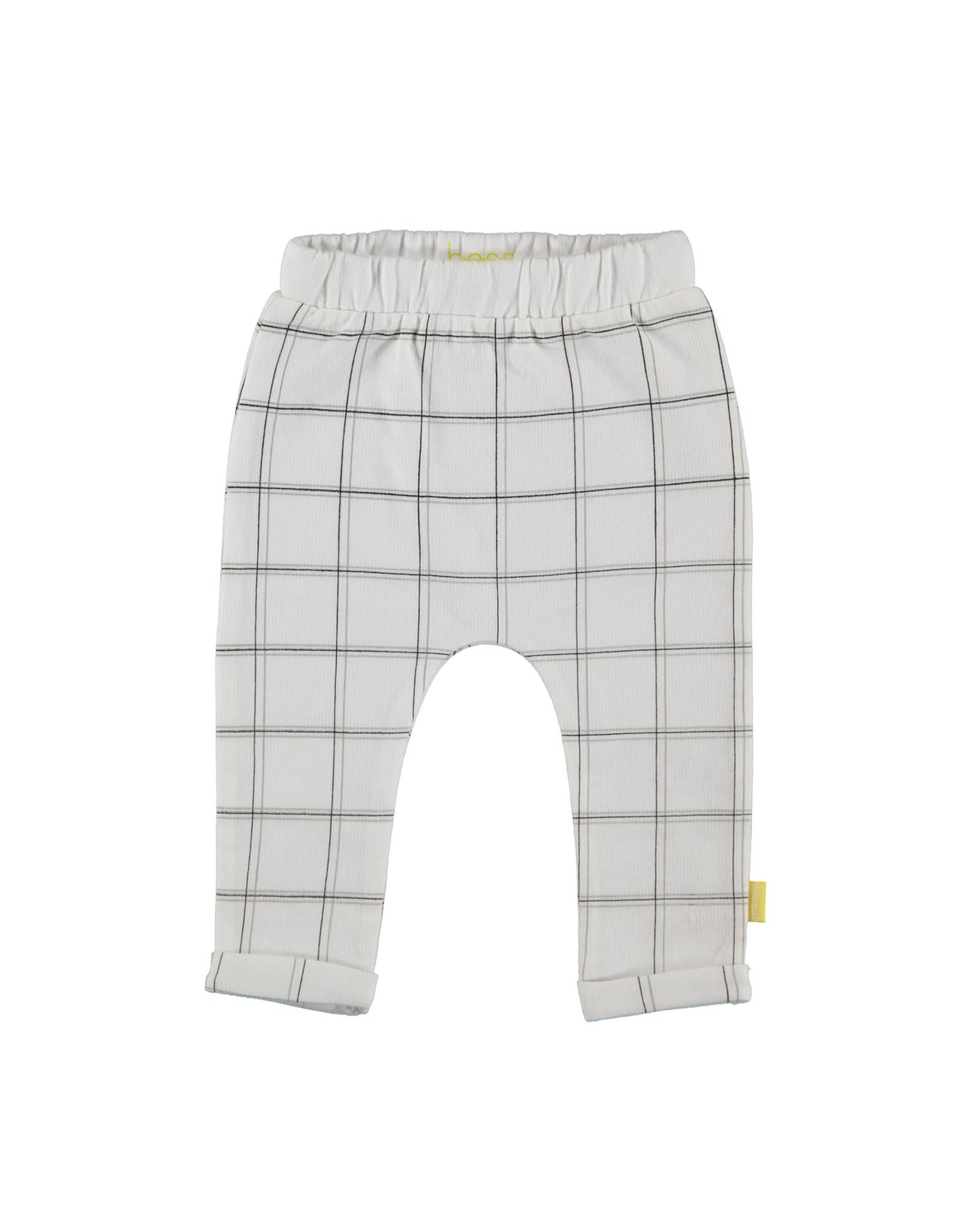 B.E.S.S. Pants Check, White