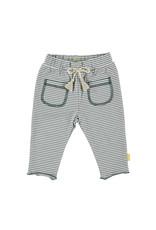 B.E.S.S. Pants Striped Pockets, White