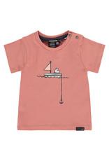 Babyface baby boys t-shirt short sleeve, dark salmon, NWB21227647