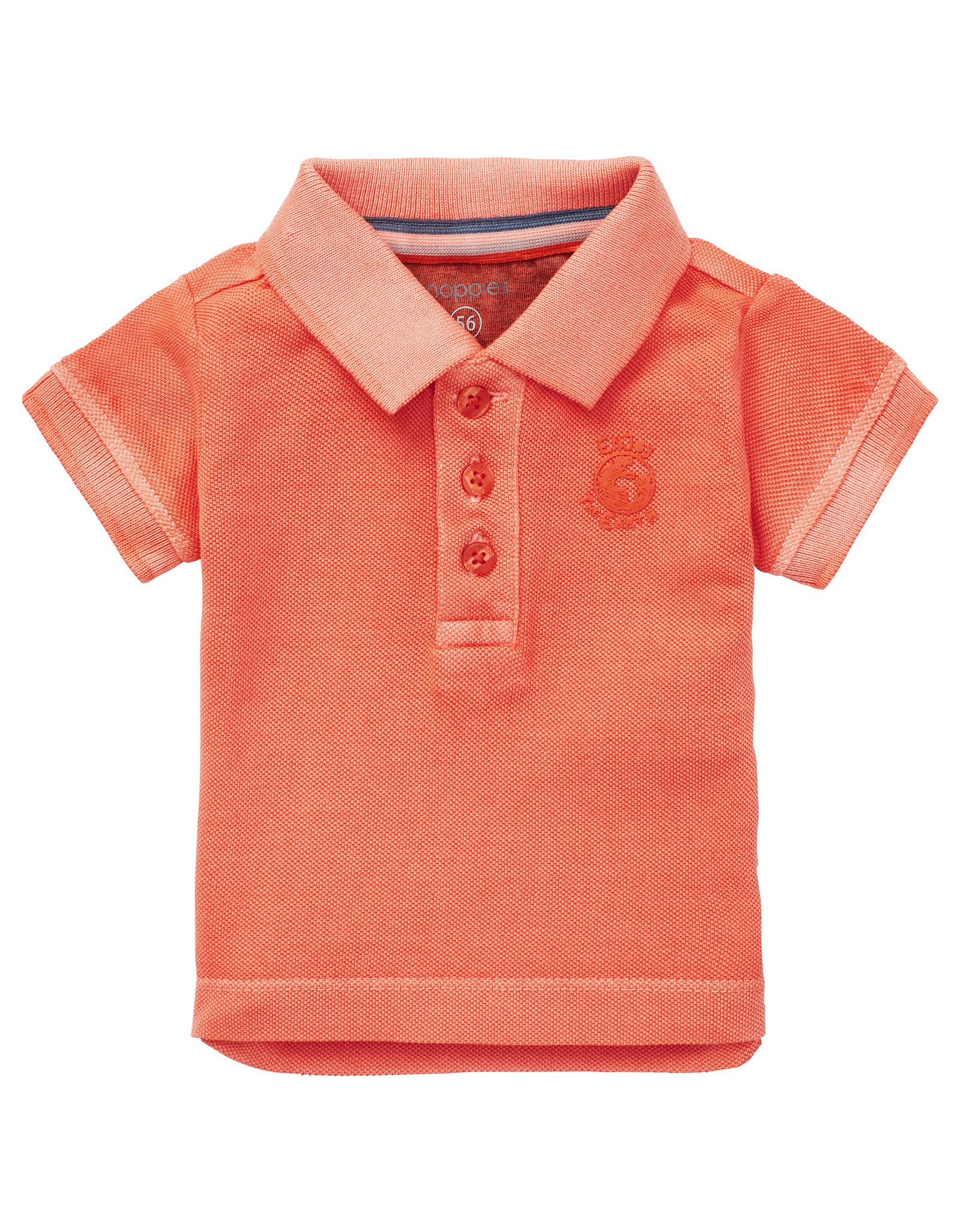 Noppies B Polo SS Tarleton, Vermillion Orange