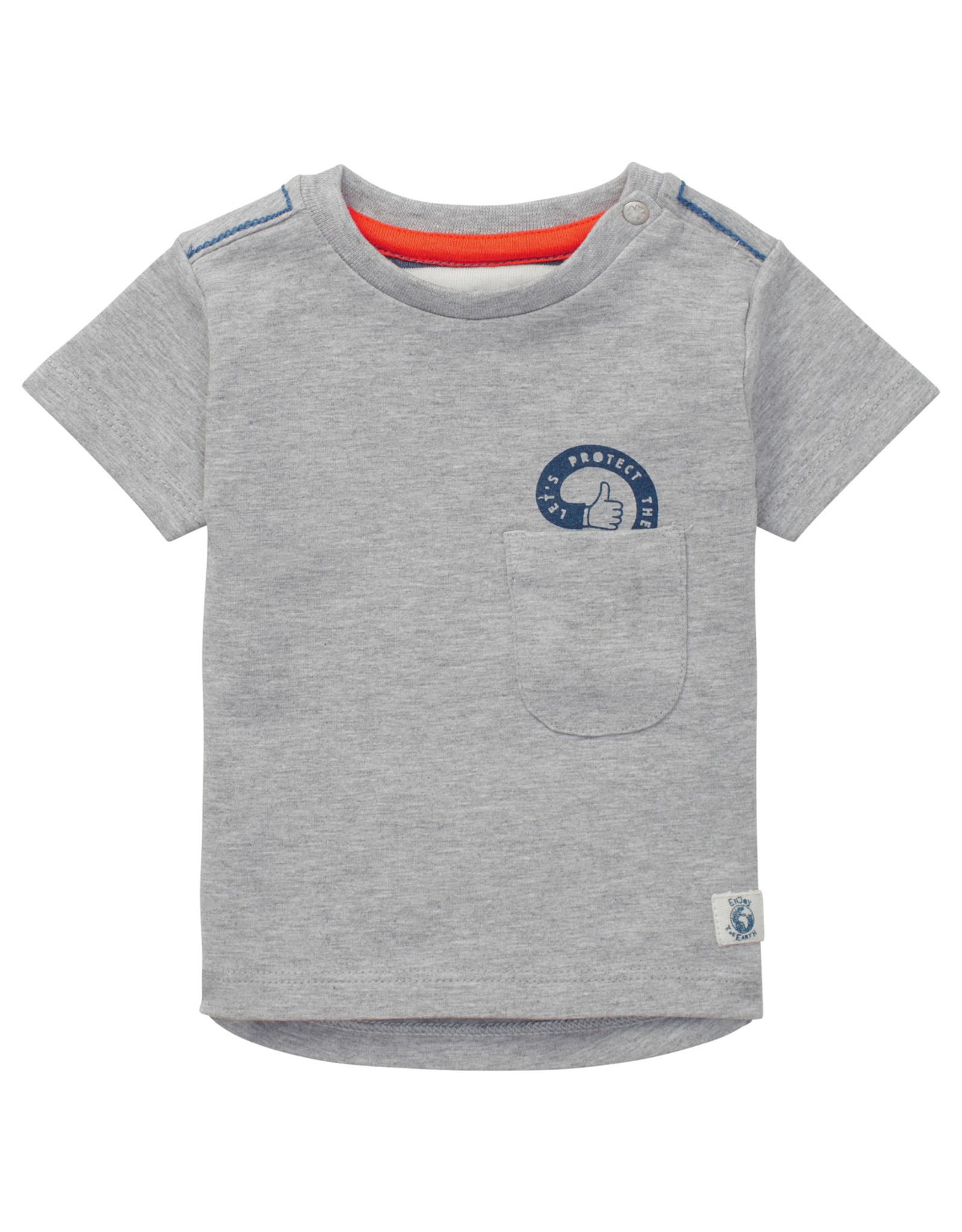 Noppies B T-shirt SS Tijnje, RAS105 L. Grey Mel.