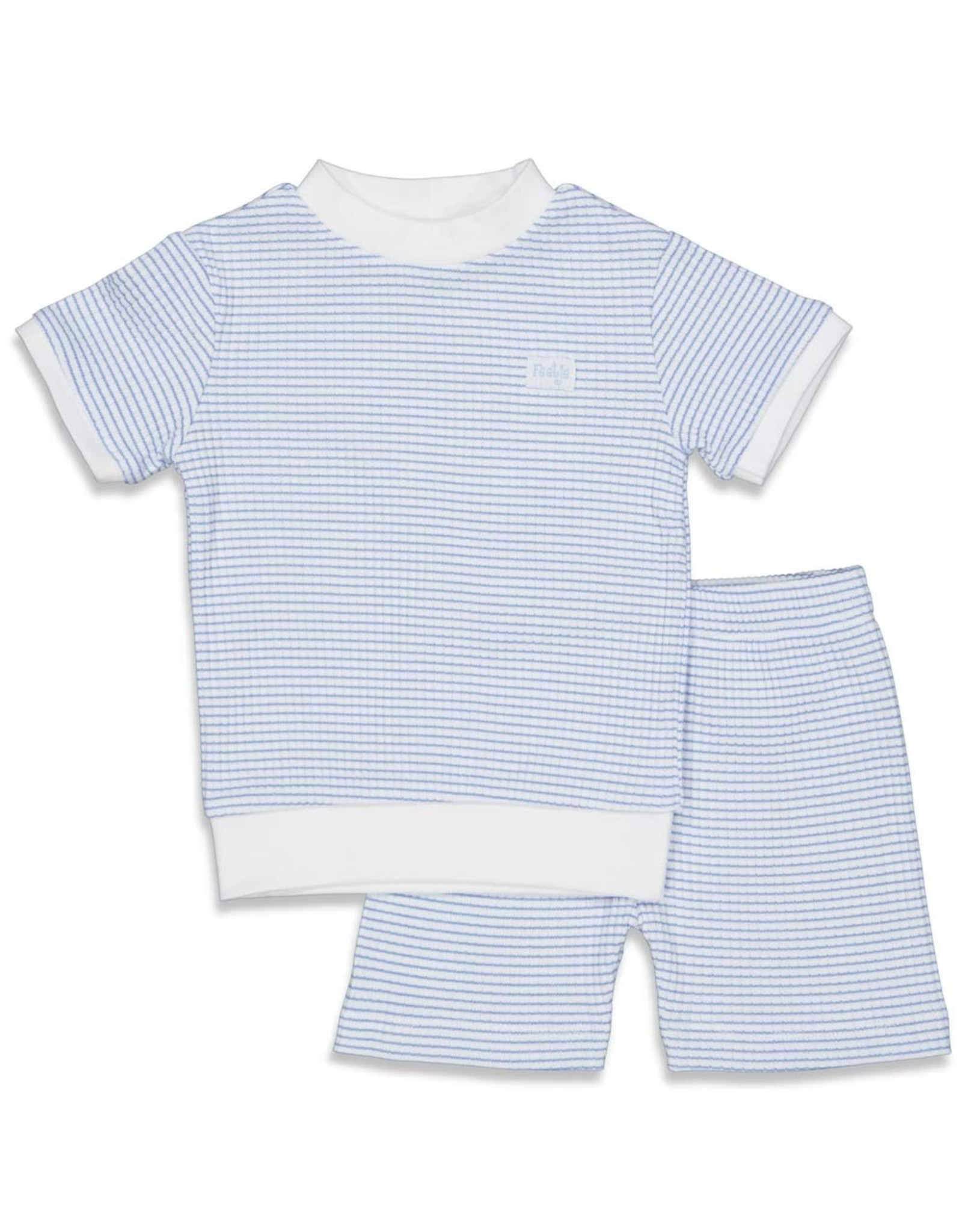Feetje Pyjama kort wafel. Blue