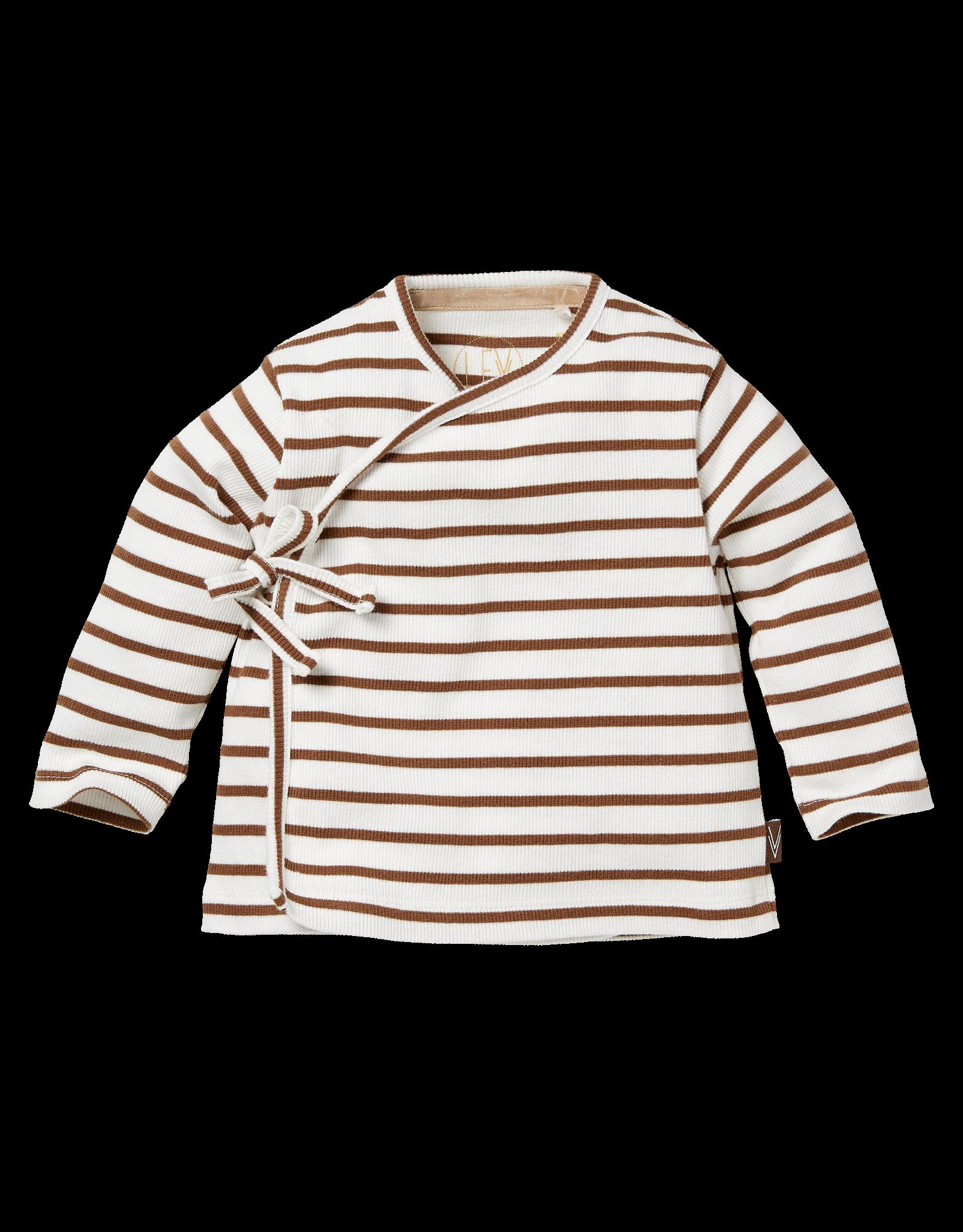 LEVV BAUKE , AOP Brown Almond Stripe