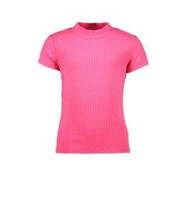 B-Nosy Girls rib t-shirt with opening