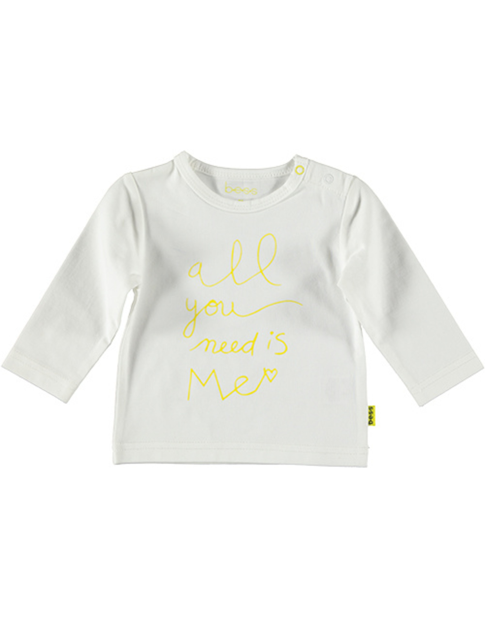 B.E.S.S. Shirt l.sl. All you need is me, White