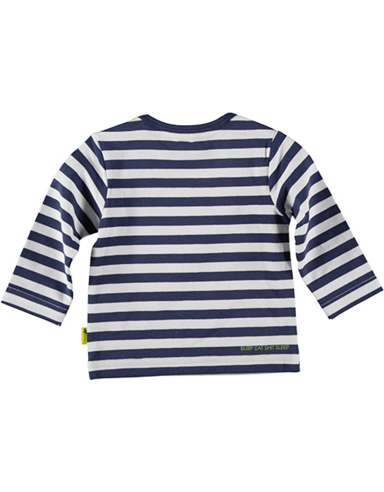 B.E.S.S. Shirt l.sl. Striped Cool For Sure, Blue