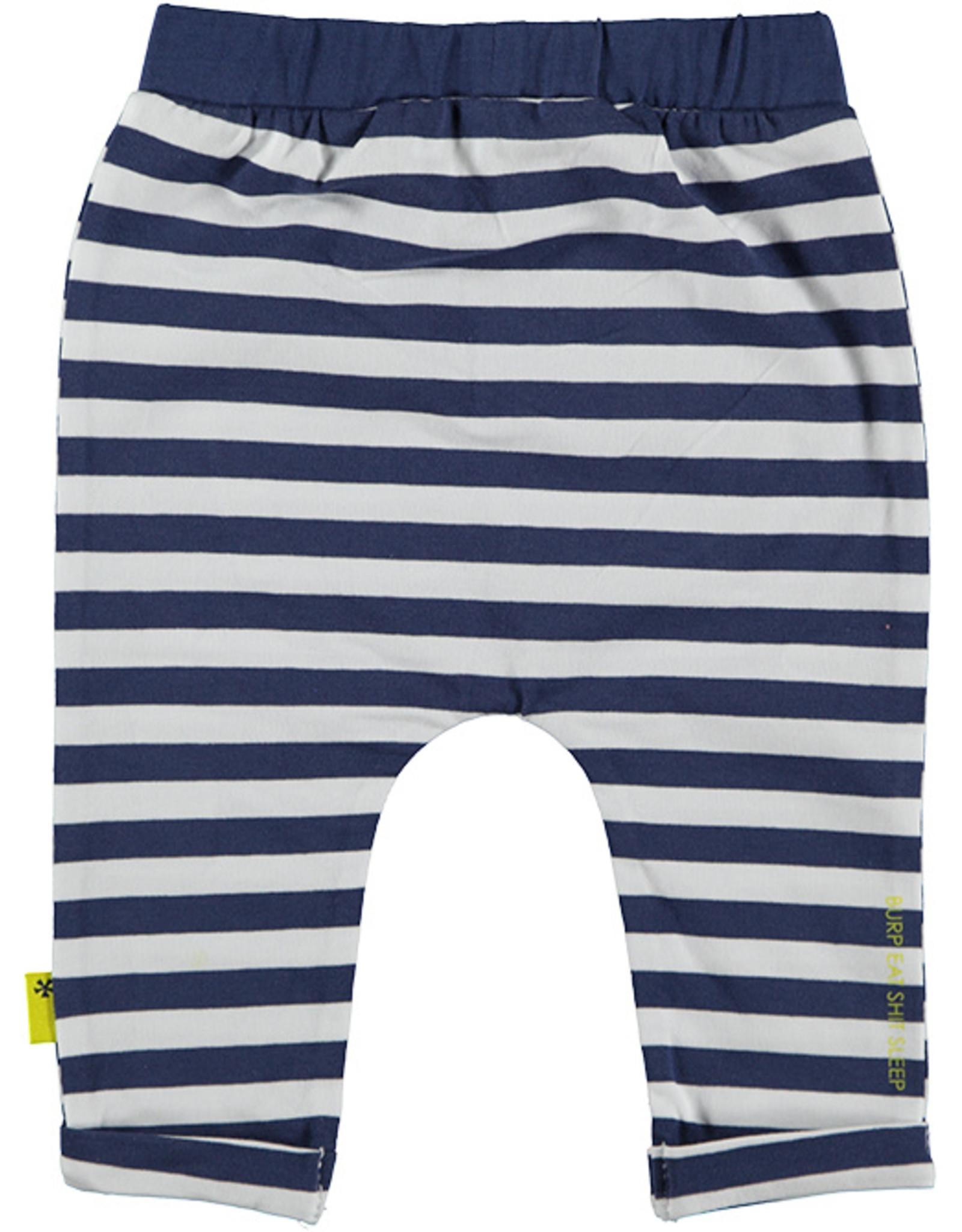 B.E.S.S. Pants AOP Striped with Pocket, Blue